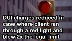 Tampa DUI lawyer gets charges reduced in case where client ran through a red light and blew 2x the legal limit