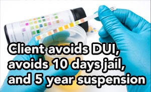 Tampa DUI lawyer helps client avoid DUI  for drug related Tampa DUI accident arrest .