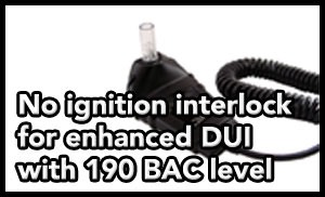 Tampa DUI lawyer helps client avoid ignition interlock for enhanced DUI arrest.