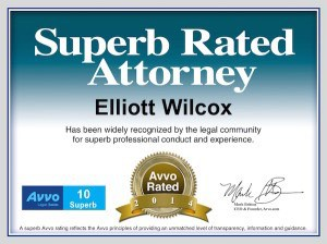Tampa DUI lawyer Elliott Wilcox received the SUPERB rating from Avvo again in 2014