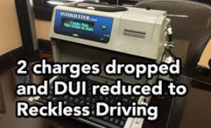 Tampa DUI lawyer gets 2 charges dropped and DUI reduced to Reckless Driving