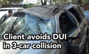 Tampa DUI lawyer helps client avoid DUI despite 3-car accident
