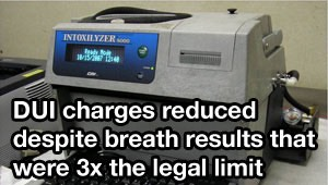Tampa DUI lawyer gets charges reduced in case with breath test 3x the legal limit