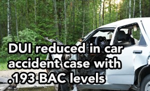 Tampa DUI lawyer helps client involved in car accident with .193 BAC.