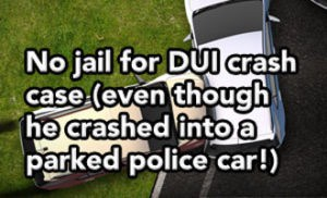 Tampa DUI lawyer helps DUI driver who crashes into parked police car.