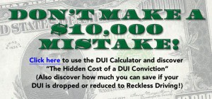 Don't make a $10,000 mistake! Learn how much a DUI conviction will cost, and how much you'll save if a Tampa DUI lawyer can get your case dropped or reduced to Reckless Driving