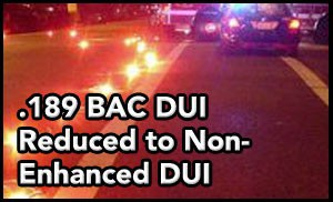 Tampa DUI lawyer helps client reduce DUI after driving over road flares and blowing more than TWICE the legal limit.