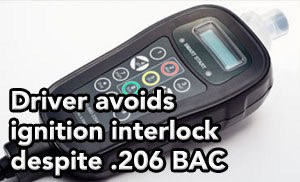 Tampa DUI lawyer helps client avoid ignition interlock despite .206 BAC