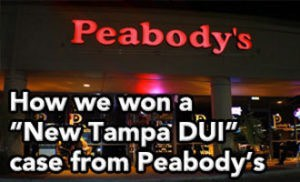 "Tampa DUI lawyer Elliott Wilcox got this ""New Tampa DUI"" from Peabody's reduced to Reckless Driving"